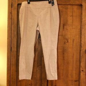 New York & Company Tan Patterned Pants